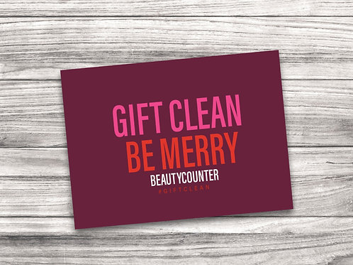 Beautycounter Christmas Notecard 7