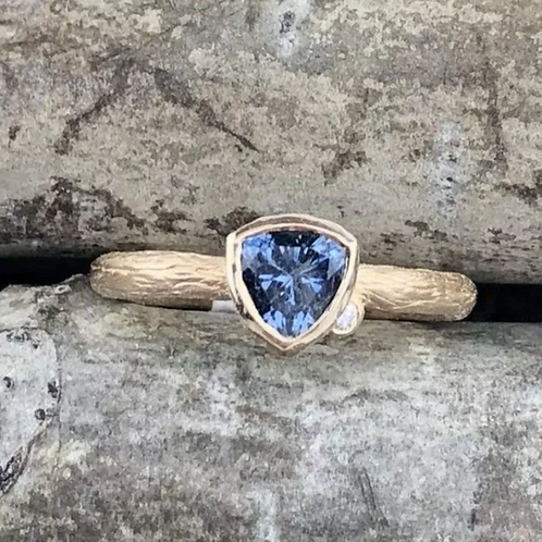 Trillion Montana Sapphire Yellow – Corey Johnson Fine Jewelry