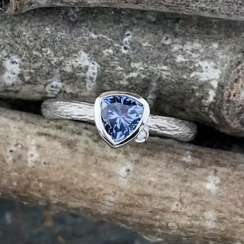 Trillion Montana Sapphire White – Corey Johnson Fine Jewelry