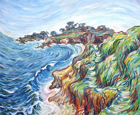 Surging Sea Shoreline