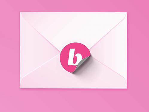 Beautycounter Christmas Sticker Pink/White