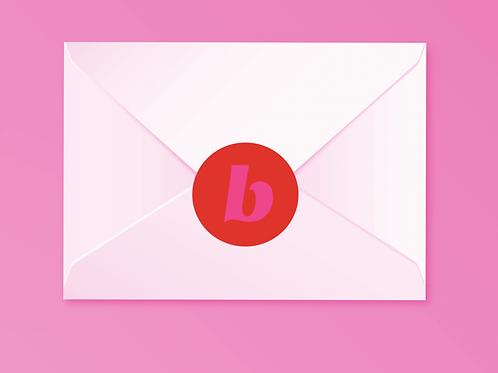 Beautycounter Christmas Sticker Red/Pink