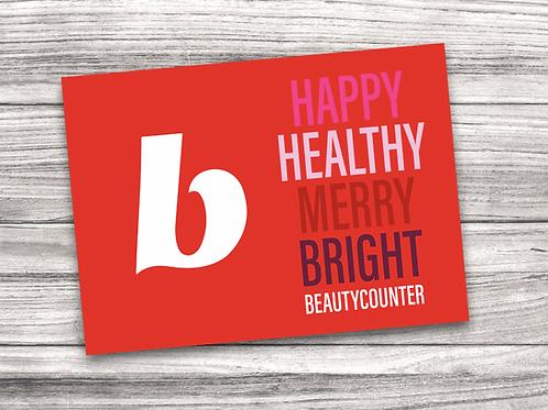 Beautycounter Christmas Notecard 8