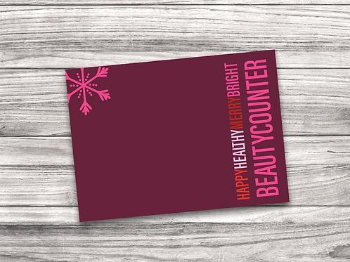 Beautycounter Christmas Notecard 3