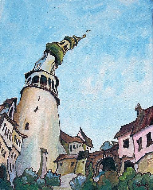 Sopron Tower Faces Sunward