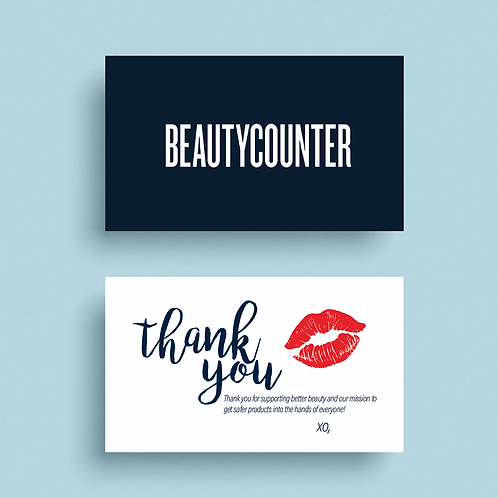 Beautycounter Thank You Card