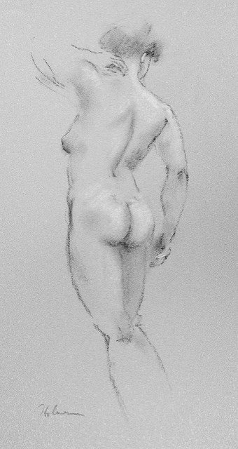 Study of an Athlete (Woman Standing on the Edge)