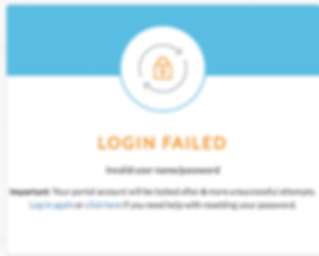 Failed login help