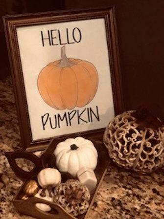 """Hello Pumpkin"" digital PDF download"