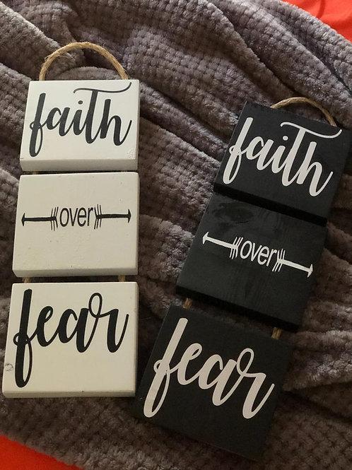 DIY Faith Over Fear Sign Kit