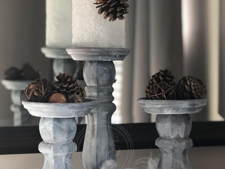 Snowy Candle Holders Make Any Space Wintery