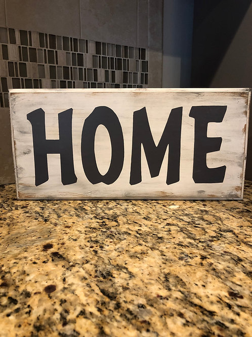 Distressed Home Wood Accent
