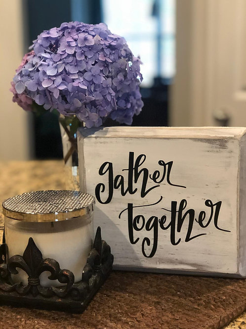 Gather Together Wood Accent