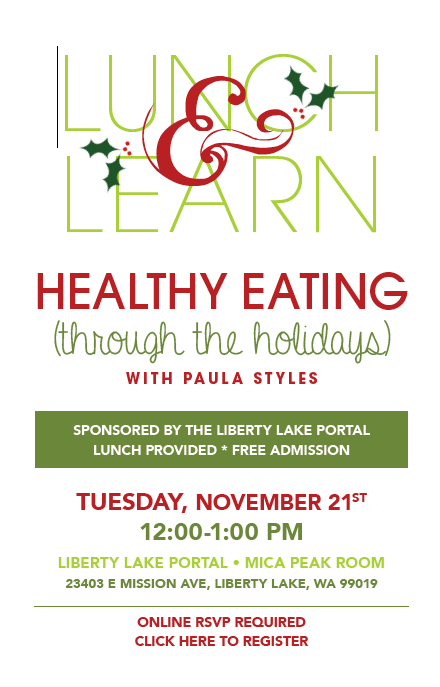 Lunch and Learn - How to eat healthily through the Holidays!
