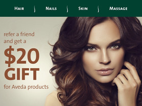 Earn a $20 Gift for Aveda Products