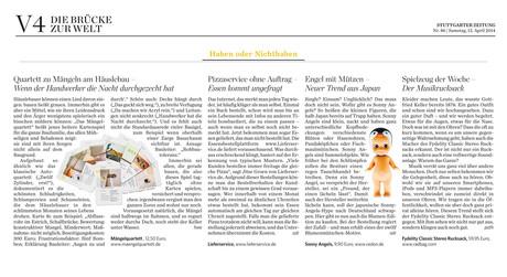 04/2014 Stuttgarter Zeitung