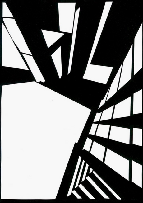 Berghain Novelle 2011, Scherenschnitt von MV.Stein