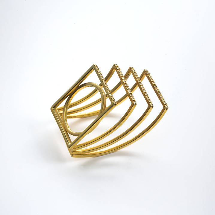 Ring in 18kt gold with brilliant diamonds