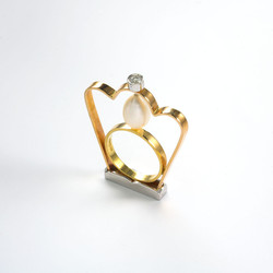 Ring in 18kt gold with brilliand diamond