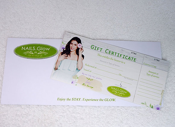 Blank Gift Certificate with Envelope