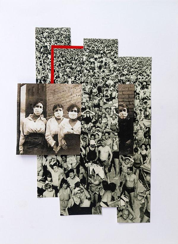 Kağıt üzerine buluntu imgelerle fotoğraf kolajı / Collage with found images on paper