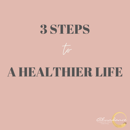 Three Steps to Developing a Healthy Lifestyle