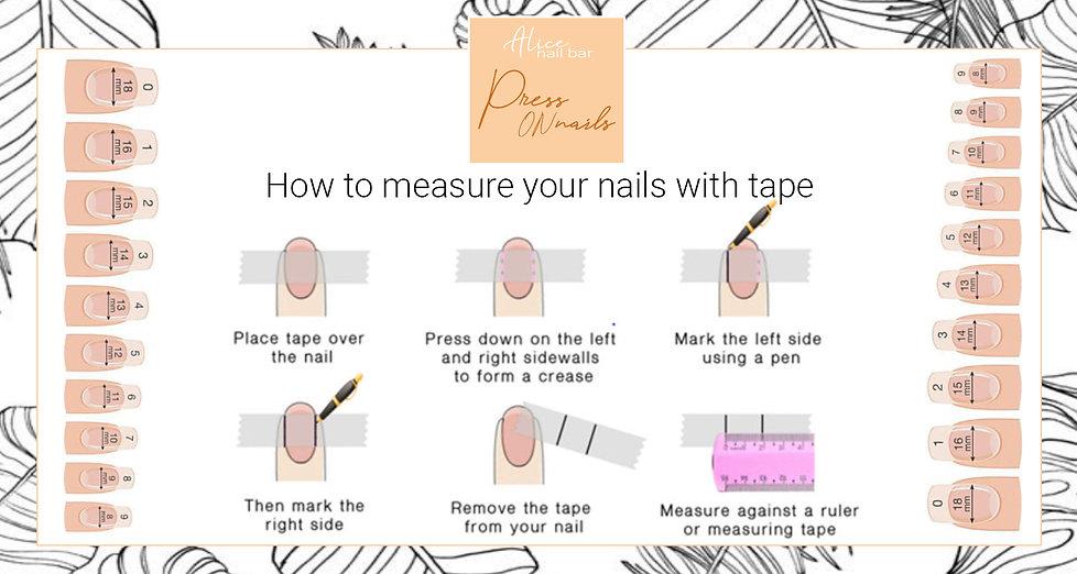 press on nails measurement