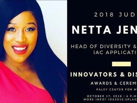 Netta Jenkins is 2018 Judge for the Innovators and Disruptors Awards and Ceremony!
