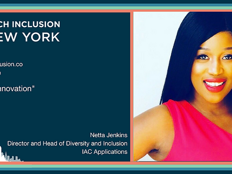 Netta Jenkins Speaking At Tech Inclusion NY 2018 Conference!