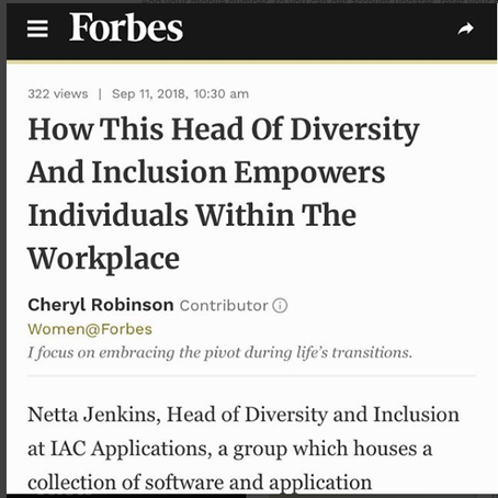 Woo Hoo! Netta Jenkins story is in Forbes.com!