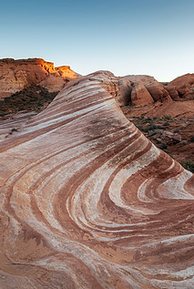 The Fire Wave in the Valley of Fire State Park, Nevada, USA