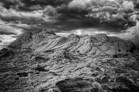 A storm over the strange landscape of Whitepocket, Arizona, USA