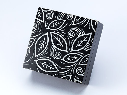 Small Laser Engraved Decorative Wooden Box with leaf detail