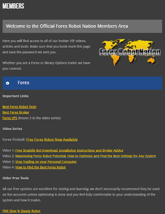 Forex Robot Nation, World Forex Award
