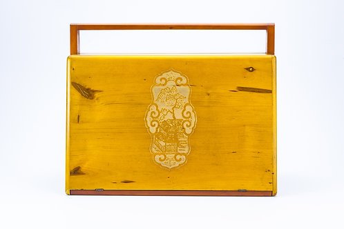 Light Wooden Jewellery Box with Detail