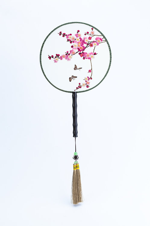 Pink Blossom Hand Fan