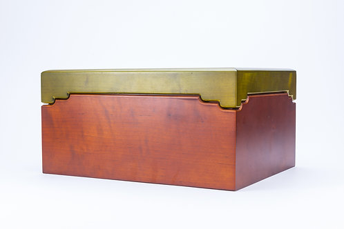 Wooden Jewellery Box with Coloured Lid