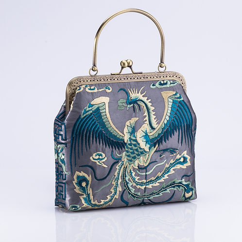 Traditional Silk Embroidered bag - Phoenix