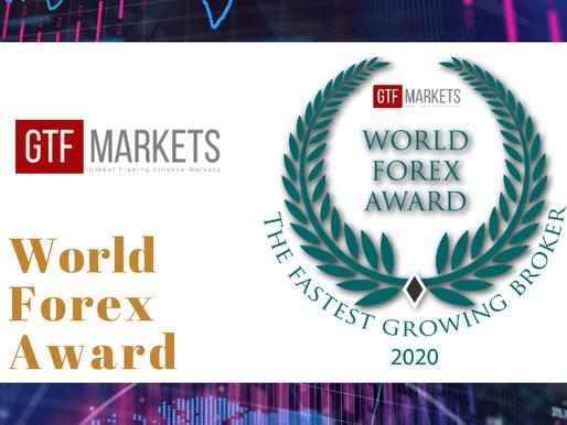 Winner of the World Forex Award - The Fastest Growing Broker