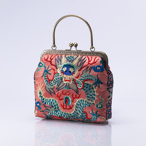 Traditional Embroidered Bag with Dragon detail