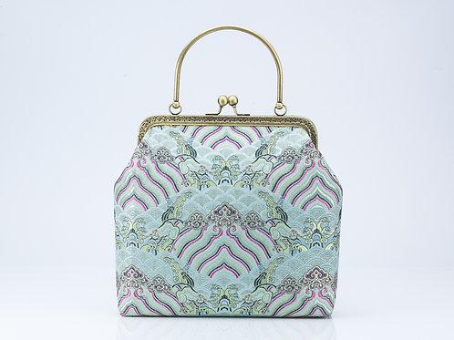Traditional Brocade Bag with eau de nil detail
