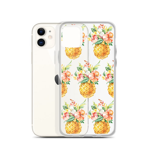 Floral Pineapple iPhone Case