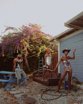 rubby Valentin, Saturn and Knox murdock in 'enchanted gardens' by ryan pfluger