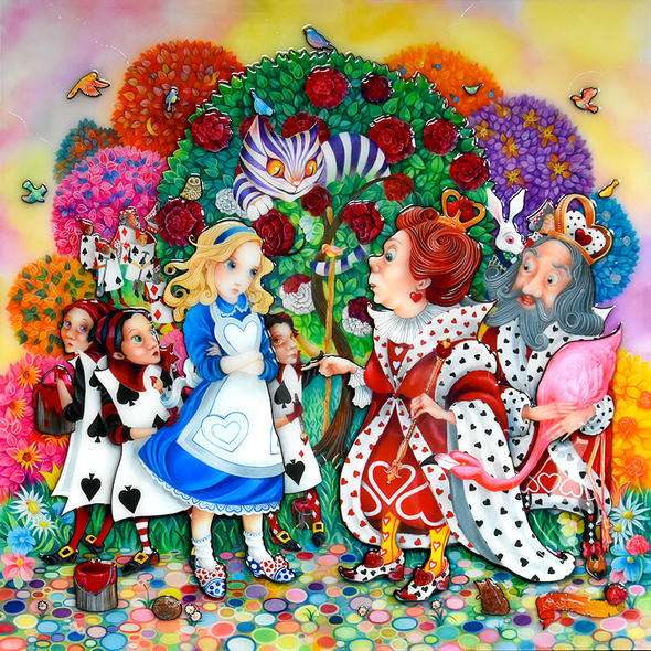 ALICE IN THE ROSE GARDEN