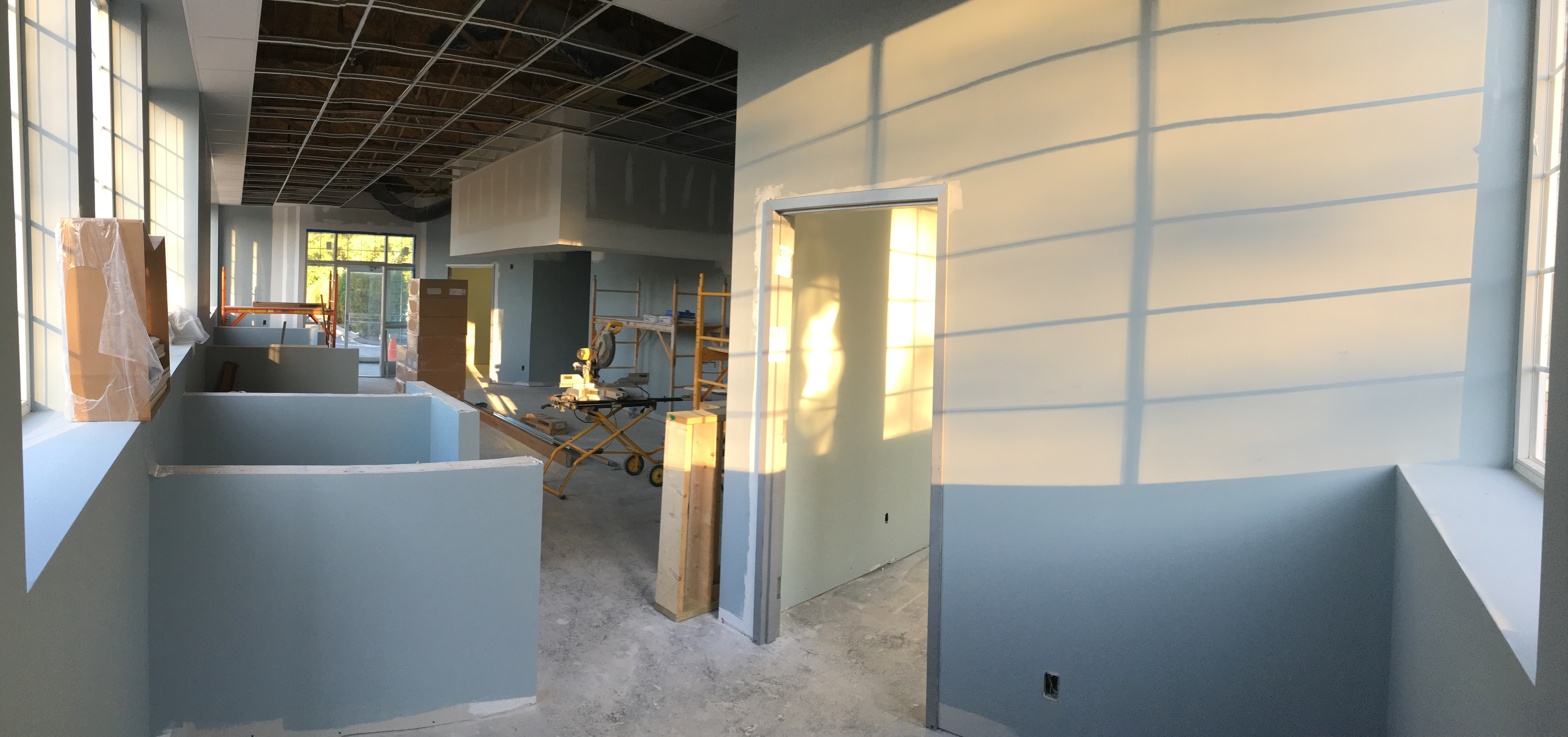 Lobby progress at PMAH in Acton MA