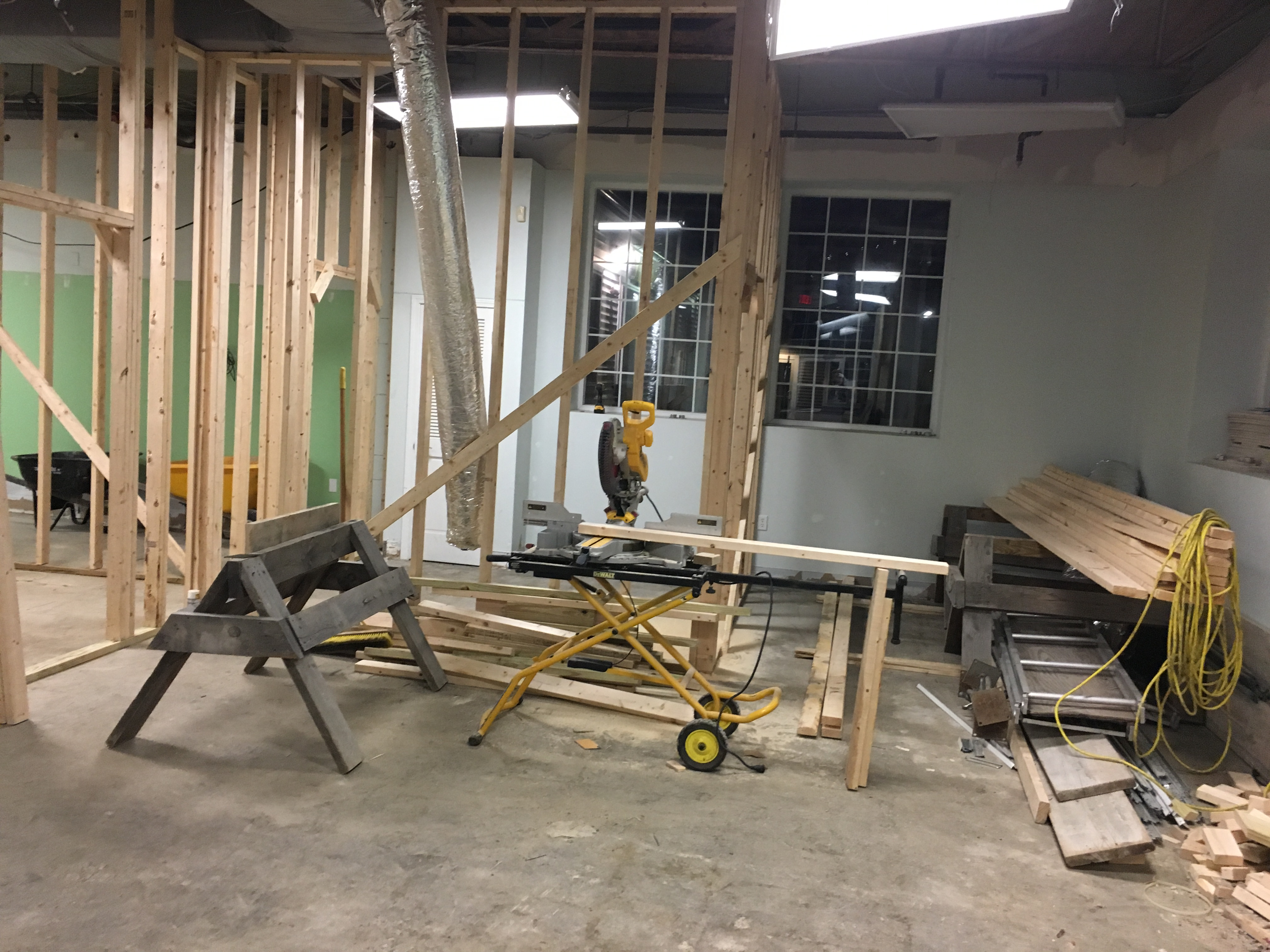 Framing going in PMAH in Acton MA
