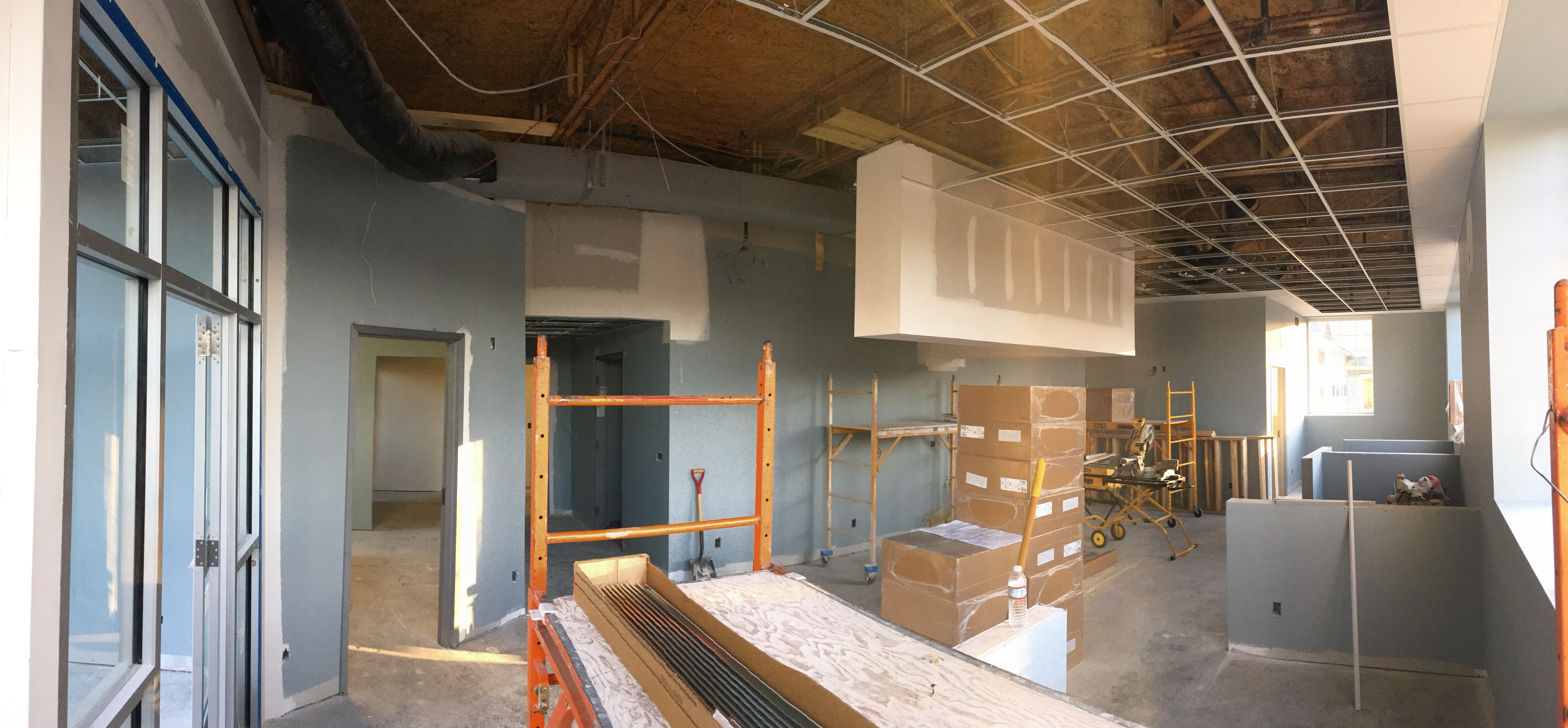 Front lobby buildout