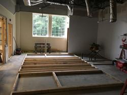 Getting ready to put up some walls at PMAH in Acton MA