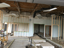 Plumbing and framing started at PMAH in Acton MA