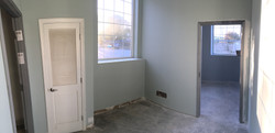 Cat exam room with primer on walls at PMAH in Acton MA